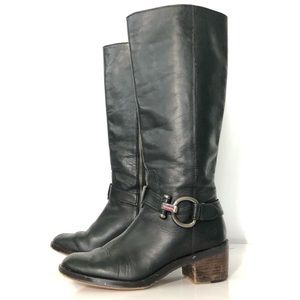 Coach black leather knee high boot 7